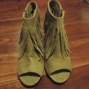 Fringe booties Size 8.5